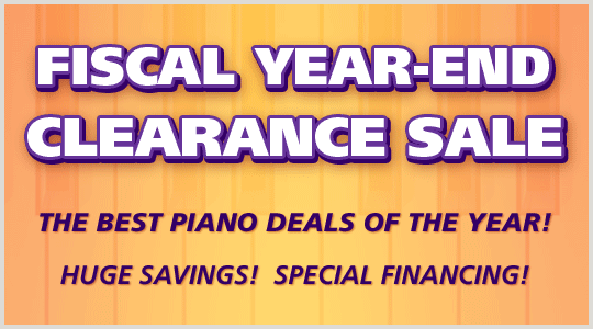 Fiscal Year-End Clearance Sale: Piano savings, special financing at Schmitt Music