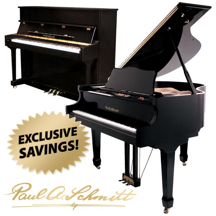 Paul A Schmitt acoustic pianos at Schmitt Music