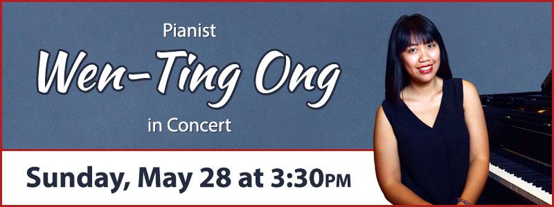 Pianist Wen-Ting Ong at Schmitt Music Kansas City