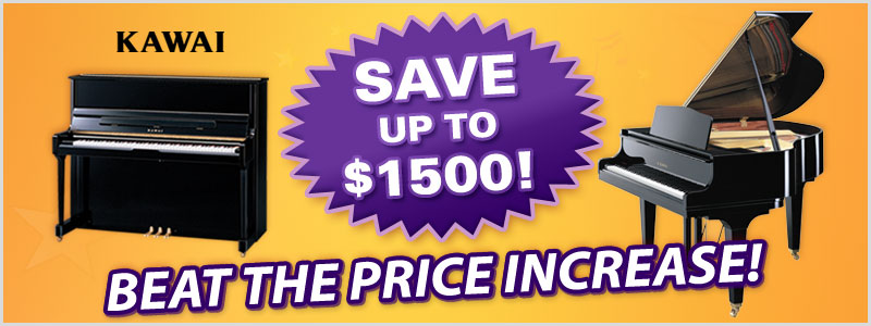Kawai Pianos for sale, save up to $1500!