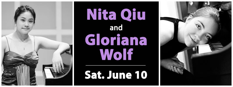 Nita Qiu and Gloriana Wolf in Recital at Schmitt Music Edina