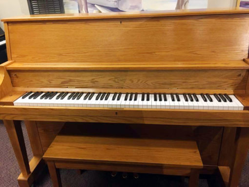 Used Boston 118-S Honey Oak Upright Piano