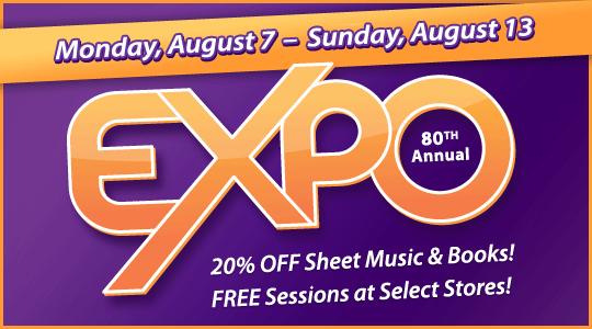 Schmitt Music's EXPO 2017: new music workshops, print music sale