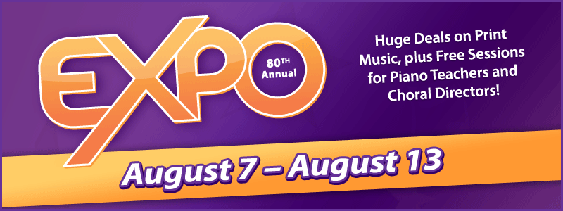 Save the Dates!  Schmitt Music's 80th Annual EXPO is August 7-13!