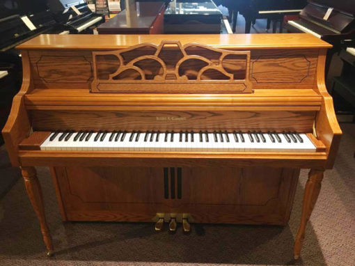 Used Kohler and Campbell 244M Oak Upright Piano