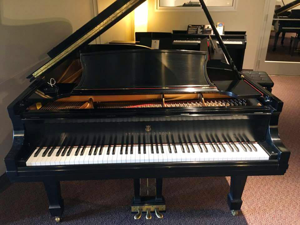 Used Steinway B Ebony Satin Grand Piano