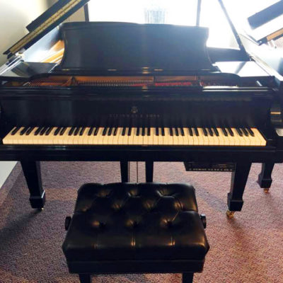 Used Steinway B Ebony Satin Grand Piano with PianoDisc Player
