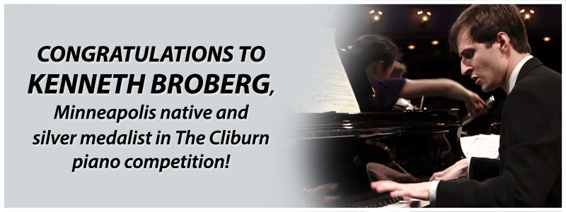 Kenneth Broberg Wins Silver at The Cliburn Competition