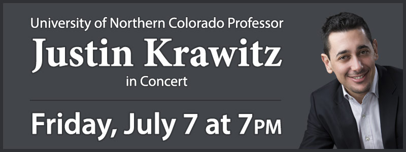 Justin Krawitz in Concert at Schmitt Music Denver