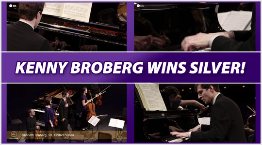 Kenneth Brobert wins silver at The Cliburn