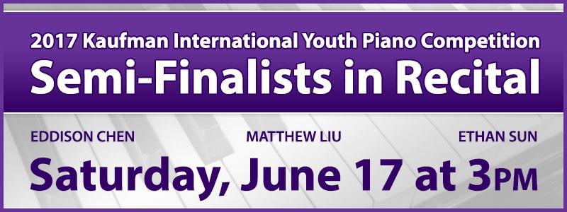 Recital featuring Kaufman International Youth Piano Competition Semi-Finalists at Schmitt Music Kansas City