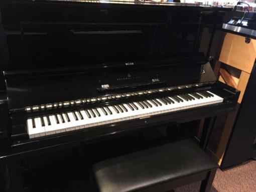 Used Steinway K52 Ebony Polish Upright Piano