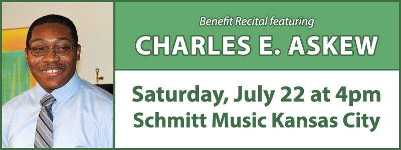 Benefit Recital featuring Charles E. Askew at Schmitt Music Kansas City