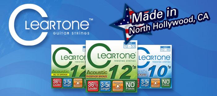 Cleartone guitar strings, Made in America