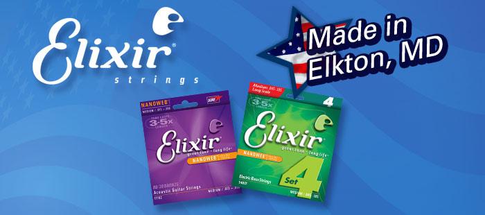 Elixir guitar strings, Made in America