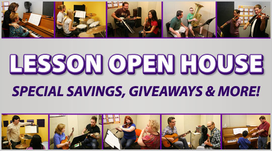 Music Lesson Open House events at your Schmitt Music store