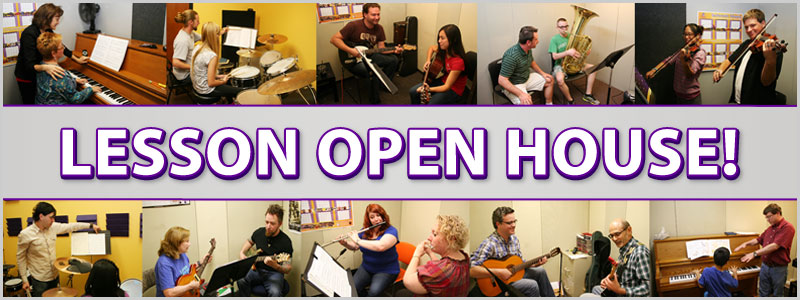 Lesson Open House events at Schmitt Music