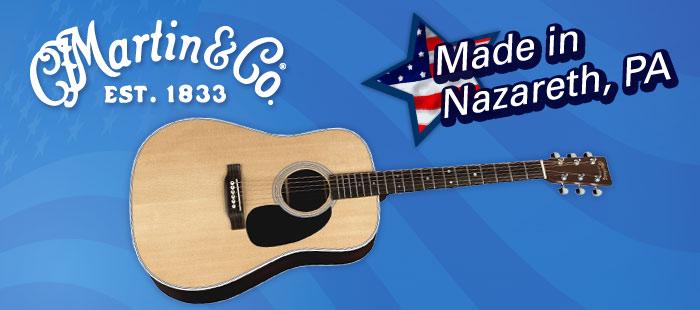 Martin guitars, Made in America