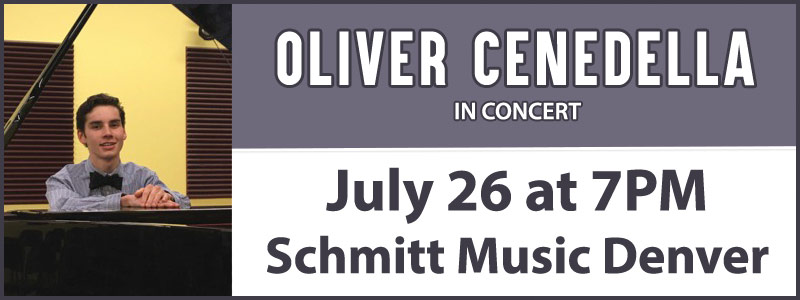 Oliver Cenedella in Concert at Schmitt Music Denver