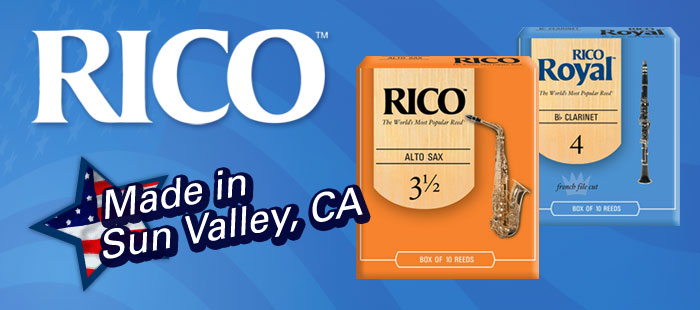 Rico reeds, Made in America