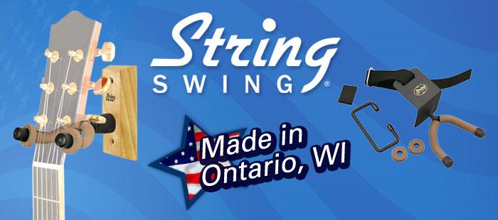 String Swing guitar hanger, guitar stand, Made in America