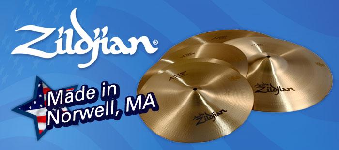 Zildjian cymbals, percussion, Made in America