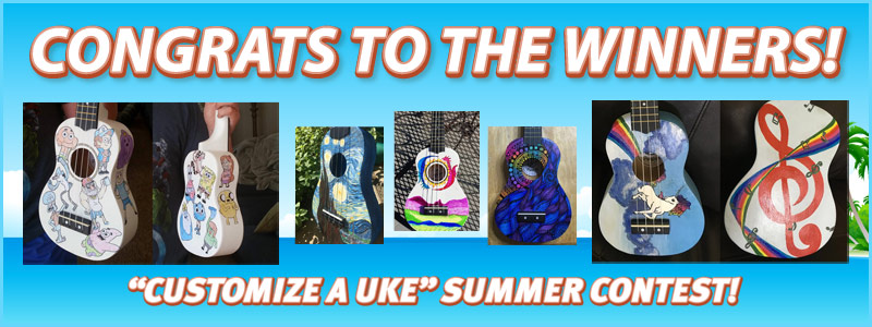 Winners of the 2017 'Customize A Uke' Contest Announced!
