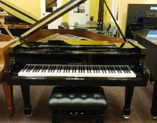 "Used Pramberger 5'9"" Nickel Plated Grand Piano"