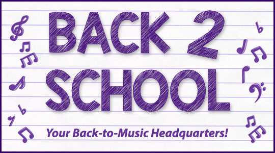Back to School band and orchestra instruments