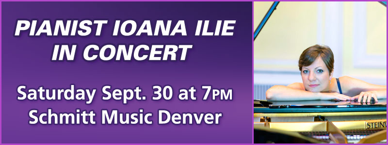 Pianist Ioana Ilie in Concert at Schmitt Music Denver