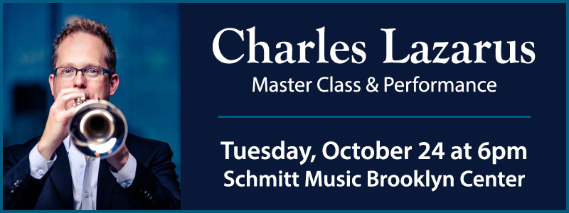 Charles Lazarus trumpet master class, Brooklyn Center