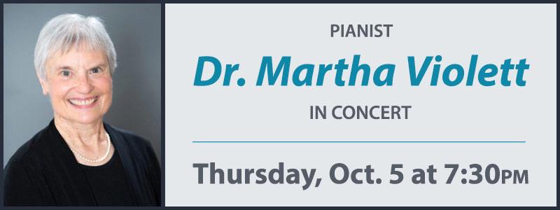 Pianist Dr. Martha Violett in Concert at Schmitt Music Denver