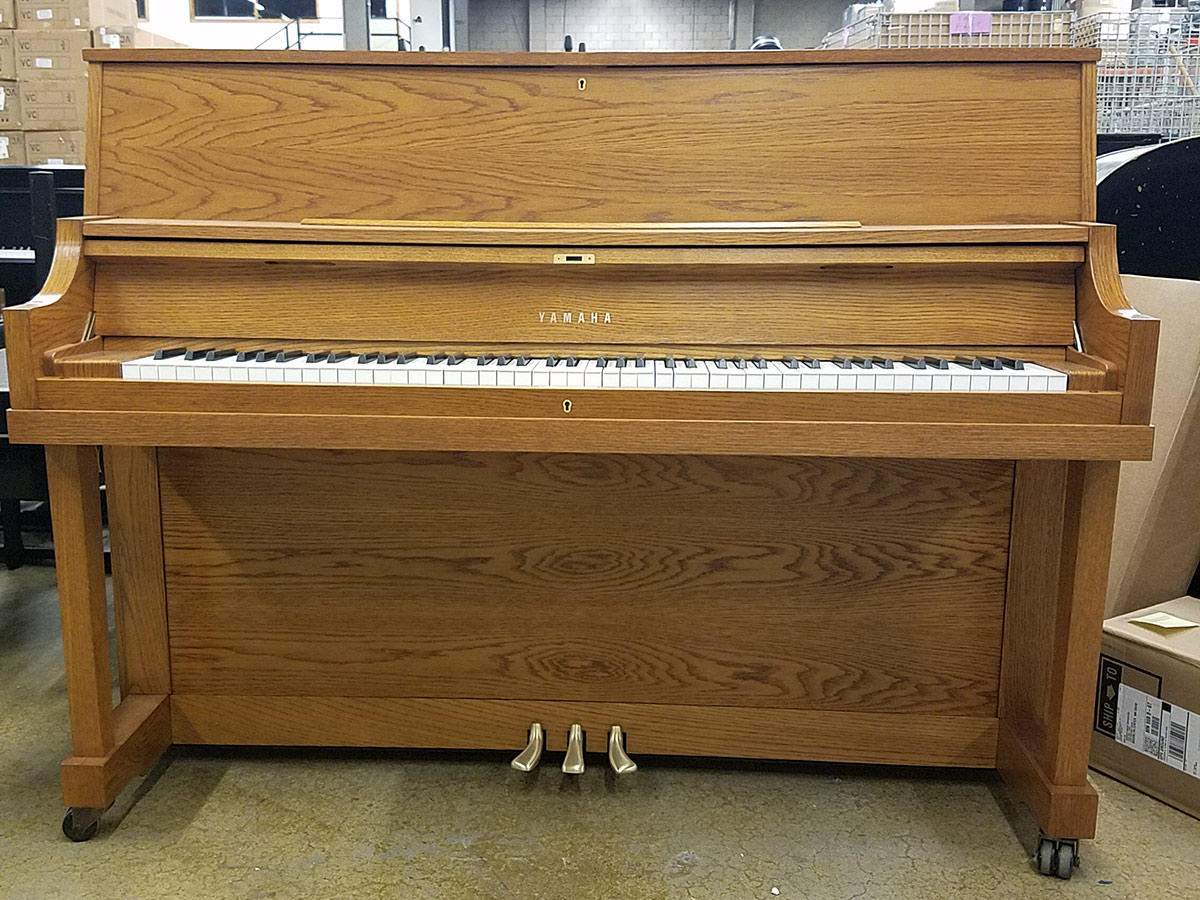 used yamaha p22 45 oak upright piano schmitt music