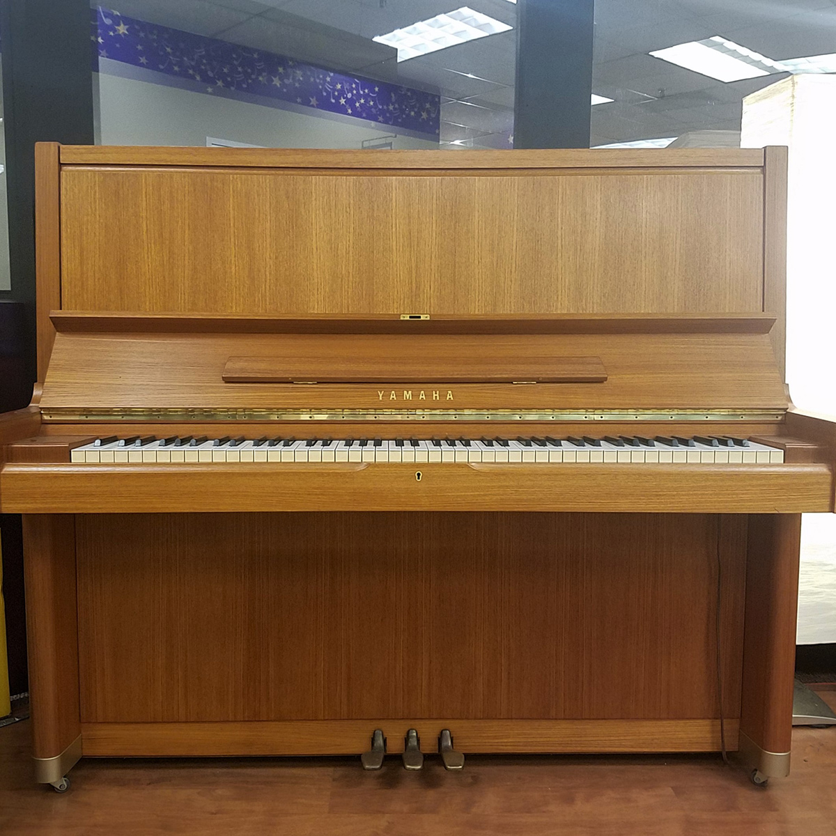 used yamaha u7 teak upright piano schmitt music