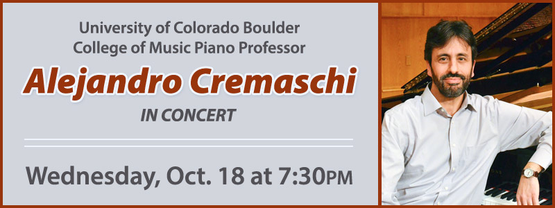 Alejandro Cremaschi in Concert at Schmitt Music Denver