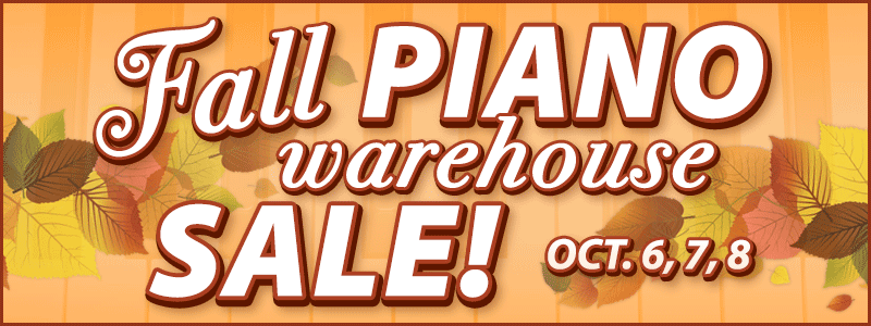 Fall Piano Warehouse Sale at Schmitt Music Brooklyn Center