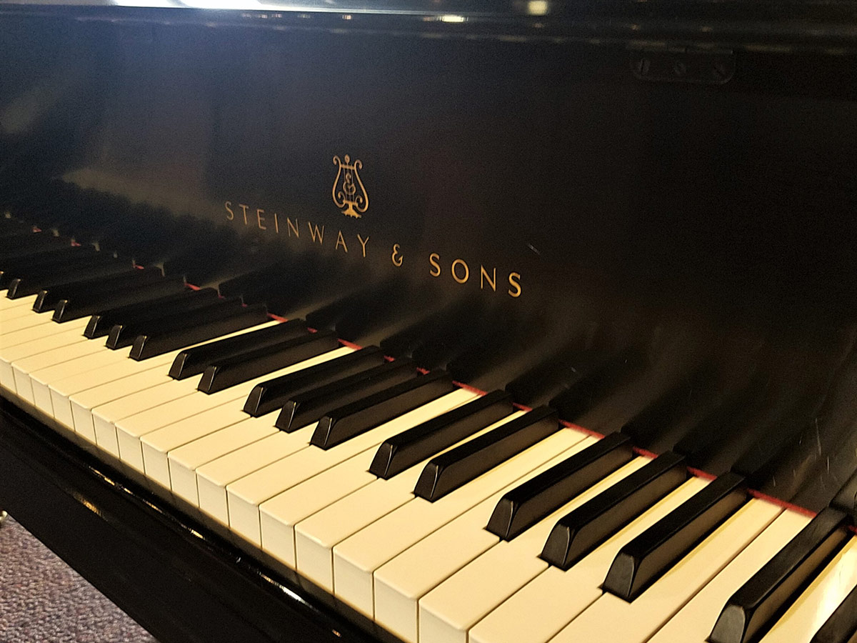 """Used Steinway B 6'11"""" Ebony Satin Grand Piano"""