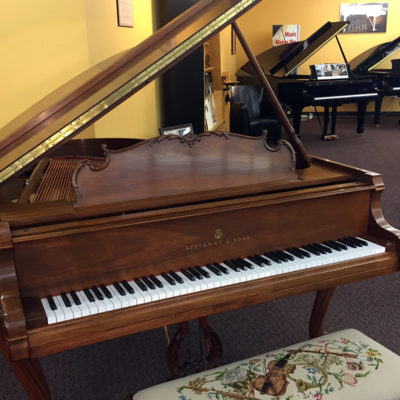 Used Steinway Louis XV 1984 Satin Walnut Grand Piano