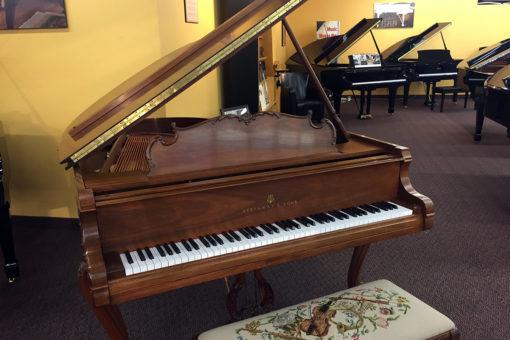 Used Steinway Louis XV 1984 Satin Walnut Grand Piano