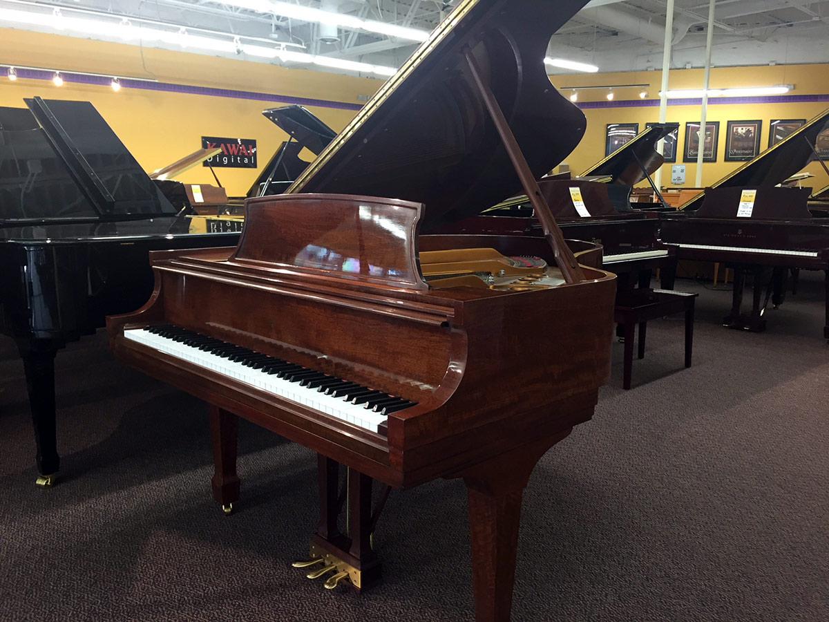 Used Steinway Model M Figured Sapele Grand Piano