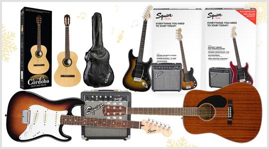 Guitar deals: Fender, Squier guitar packs, Cordoba