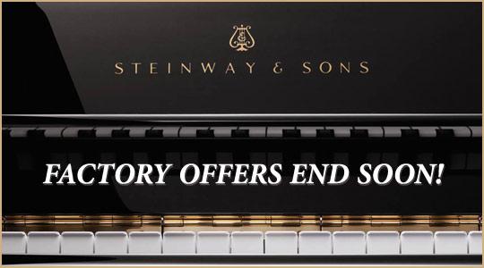 Steinway Factory Incentives End Soon at Schmitt Music