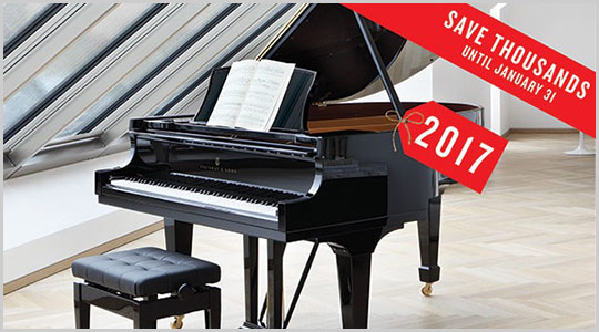 Steinway and Sons Price Rollback event