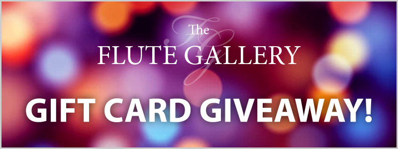 The Flute Gallery social media gift card giveaway