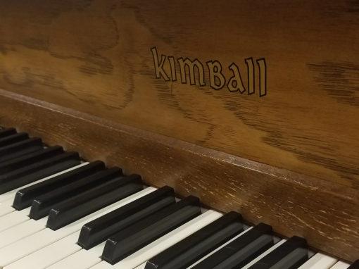 Used Kimball 5100 5' Pecan Baby Grand Piano