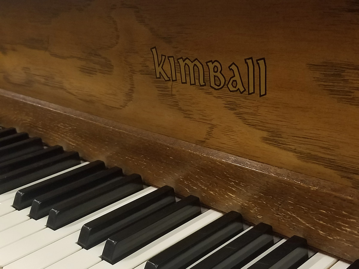Used Kimball 5100 5 Pecan Baby Grand Piano Schmitt Music