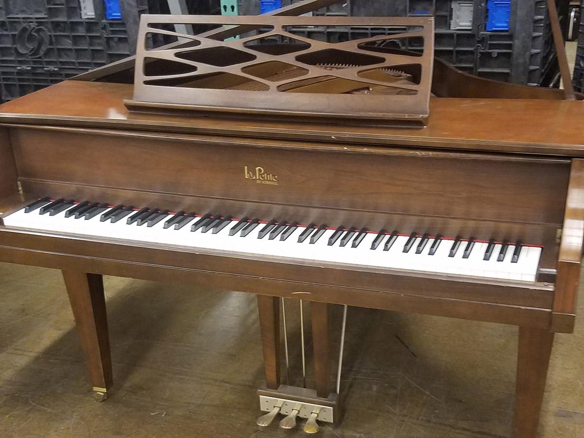 "Used Kimball La Petite 4'4"" Walnut Satin Baby Grand Piano"