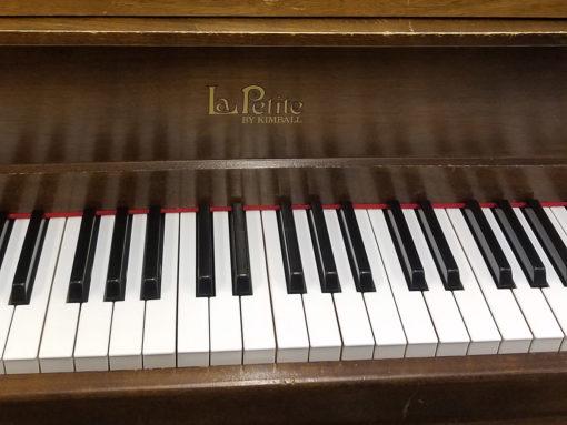 "Used Kimball La Petite 4'4"" Walnut Baby Grand Piano"