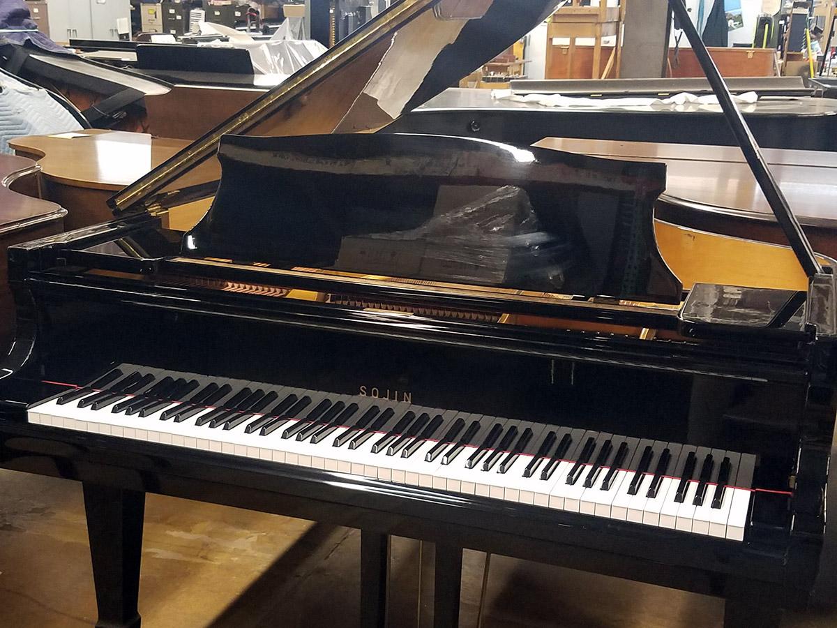 """Used Sojin DG2 5'10"""" Ebony Polish Grand Piano"""