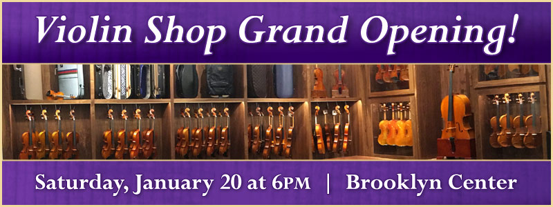 Grand Opening of the Paul A. Schmitt Violin Shop in Brooklyn Center